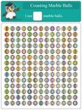 Conteggio delle palle di marmo 1 Fotografie Stock Libere da Diritti