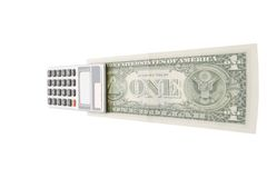 Conteggio unità e dei soldi Fotografie Stock Libere da Diritti