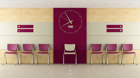 Contemorary waiting room Stock Images