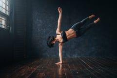 Contemp aktywny taniec w taniec klasie Obrazy Stock