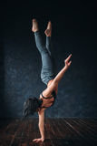 Contemp dance gymnastic exercise in studio Stock Photos