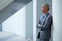 Contempating businessman Stock Photography