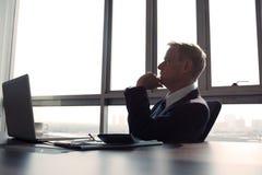 Contemplando o homem de negócios Fotos de Stock