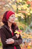 Contemplate the Autumn Stock Image