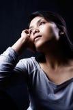 contemplate dark woman Στοκ φωτογραφία με δικαίωμα ελεύθερης χρήσης