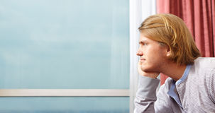 Contemplate man Royalty Free Stock Images