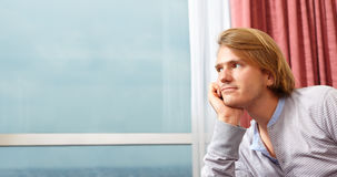 Contemplate man Stock Photography