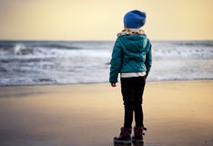 Contemplating at the Beach Royalty Free Stock Photo