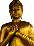 Contemplating Buddha, hands across chest Royalty Free Stock Photos