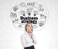 Contemplating about business strategy Royalty Free Stock Photo