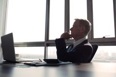 Contemplating businessman Stock Photos