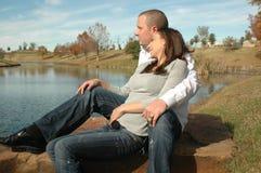 Contemplating Couple Stock Photo