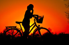 Contemplating the sunset Stock Photography