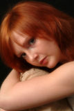 Contemplation. Beautiful red head female in contemplation Royalty Free Stock Photo