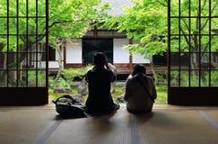 Contemplation de jardin japonais Photos libres de droits