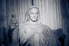 Contemplation of Justice. Detial of statue called contemplation of justice at United States Supreme Court in Washington, DC stock photo
