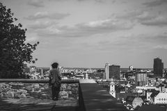 Contemplation of the town. Contemplation of the Bratislava`s town Royalty Free Stock Photography