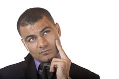 Contemplative Businessman thinks about problem Royalty Free Stock Photos