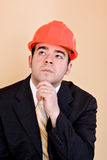 Contemplative Contractor Royalty Free Stock Photography