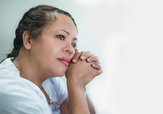 Contemplative Hispanic Woman Royalty Free Stock Photo