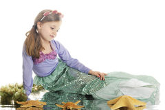Contemplative Mermaid royalty free stock image