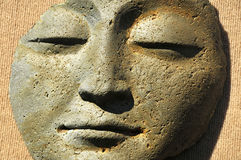 Contemplative Stone Face Royalty Free Stock Photography