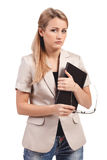 Contemplative Young Businesswoman Royalty Free Stock Photos