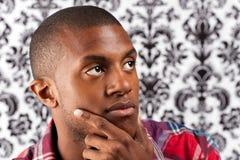Contemplative Young Man Stock Image