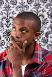 Contemplative Young Man Stock Images