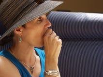 Contemplazione della donna Fotografie Stock