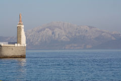 Contemplazione dello stretto di Gibilterra fotografia stock libera da diritti