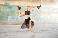 Contempo dancer doing a handstand Stock Images