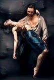 Contemporáneo de baile de los pares Fotografía de archivo libre de regalías
