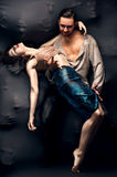 Contemporain de danse de couples Photographie stock libre de droits