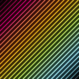 Contemporary background with rainbow neon colors. Contemporary abstract background with stripes in rainbow colors with a neon glowing effect Royalty Free Stock Images
