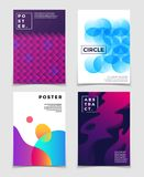 Contemporary abstract backgrounds with 3d fluid vibrant color shapes. Eps10 vector set. Of banner or poster with colored blurred illustration Royalty Free Stock Image