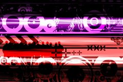 Contemporary abstract design. Contemporary abstarct design with people and symbols Stock Photo