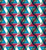 Contemporary abstract geometric seamless pattern Stock Images