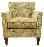 Contemporary Accent Chair. In Paisley Fabric Pattern Stock Photos