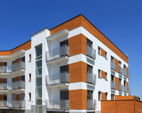 Contemporary apartment building Stock Photography