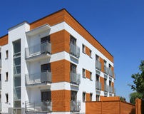 Contemporary apartment building Stock Images