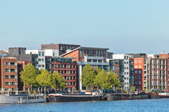 Contemporary apartment buildings in Amsterdam Royalty Free Stock Photography
