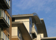Contemporary Apartments. Detail of a modern apartment block royalty free stock photos