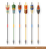 Contemporary archery arrow designs Stock Photography