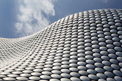 Contemporary Architecture. Exterior of shopping mall building, Birmingham, West Midlands Royalty Free Stock Images