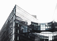 Contemporary architecture in black and white Royalty Free Stock Photos