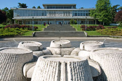 Contemporary architecture of Historical Museum of Yugoslavia, Belgrade, Serbia Royalty Free Stock Images