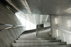 Contemporary architecture  interior design stairs Royalty Free Stock Image