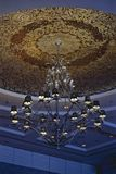 Contemporary art of chandelier, modern chandelier hanging with T royalty free stock photos