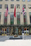 Contemporary art on display at Christie`s main headquarters at Rockefeller Plaza in New York Stock Photo